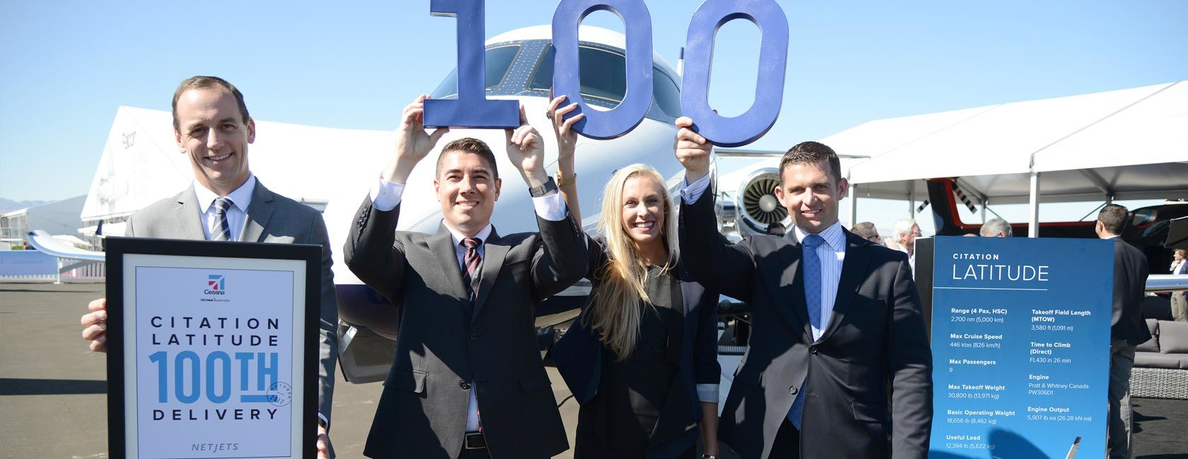 Cessna Citation Latitude Reaches 100th Delivery Milestone