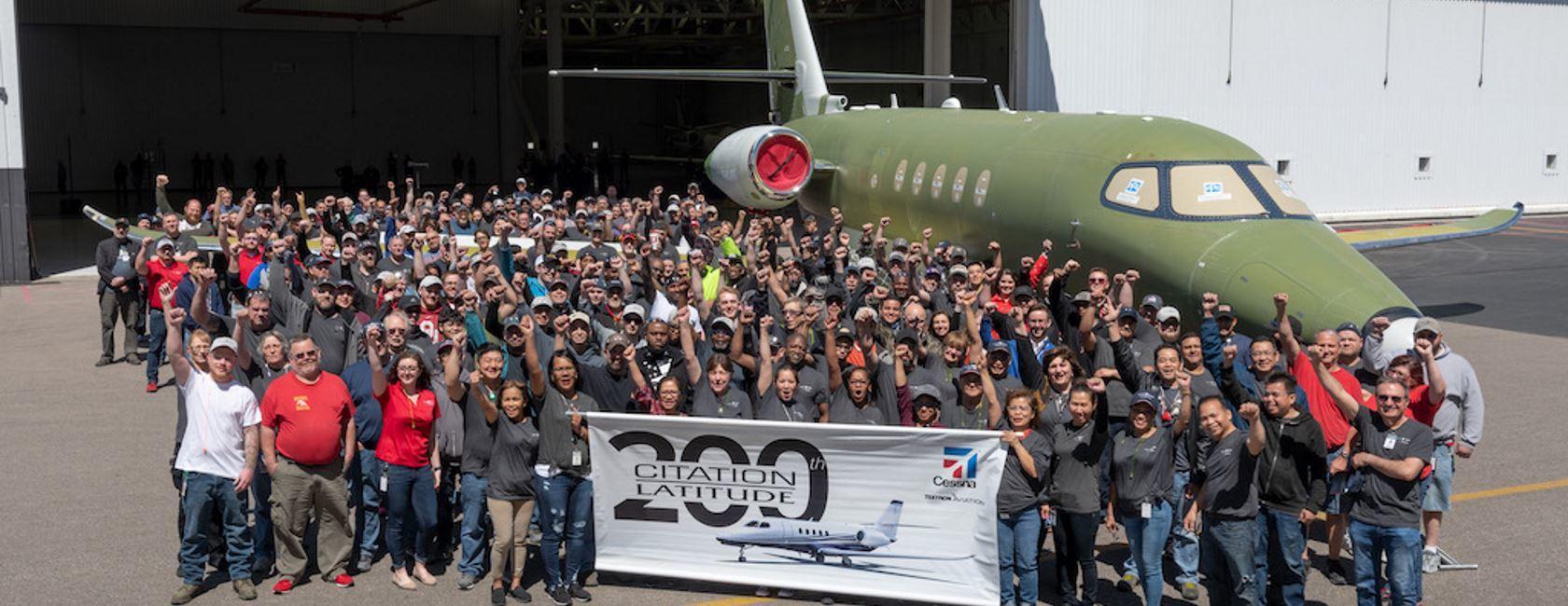 200th Citation Latitude Rolls Off Cessna Line